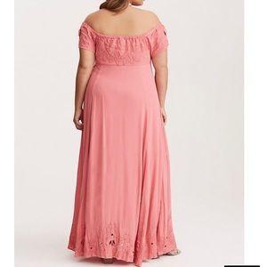 torrid Dresses - Torrid. Off shoulder. Size 2. Maxi. Pink/coral.